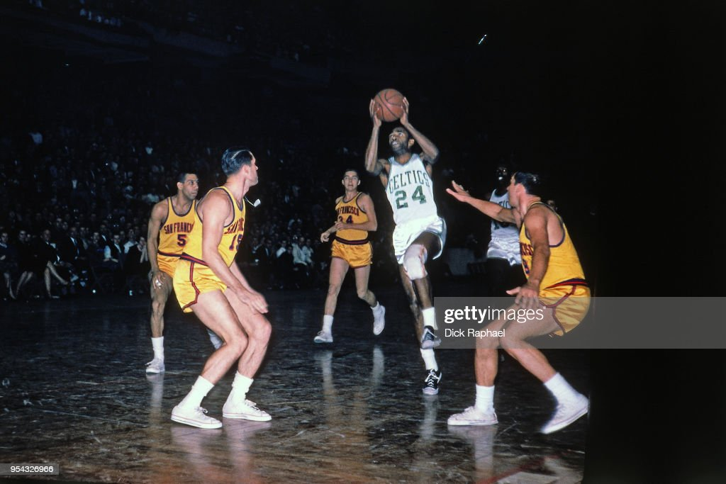 huge discount 15a9c 234f3 Sam Jones of the Boston Celtics goes to the basket against ...