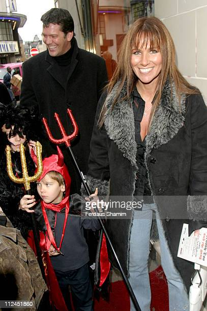 Sam Kane with Linda Lusardi and family during Scooby Doo Halloween Party at Rex Cinema in London Great Britain