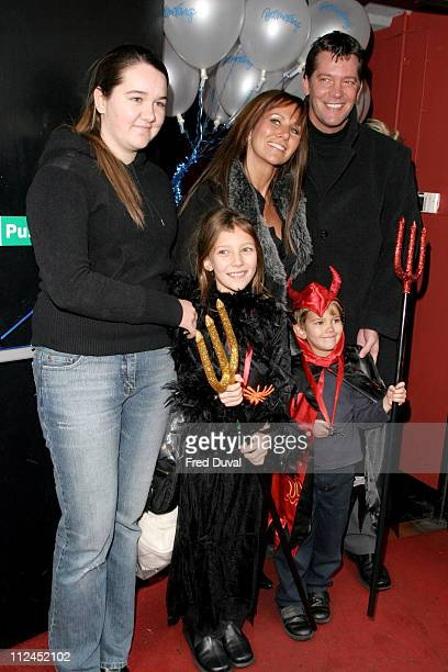 Sam Kane with Linda Lusardi and family during Scooby Doo Halloween Party October 29 2004 at Rex Cinema in London United Kingdom