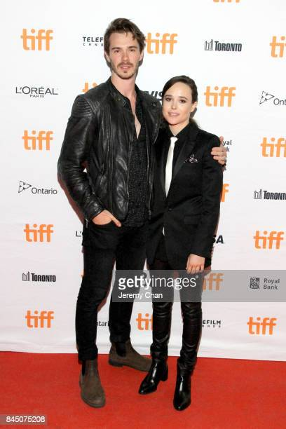 Sam Keeley and Ellen Page attend The Cured premiere during the 2017 Toronto International Film Festival at Ryerson Theatre on September 9 2017 in...