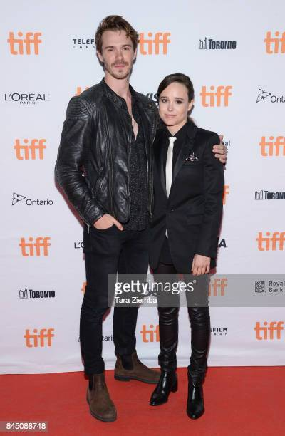 Sam Keeley and Ellen Page attend 'The Cured' premiere during the 2017 Toronto International Film Festival at Ryerson Theatre on September 9 2017 in...