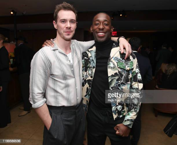Sam Keeley and Jeremy Tardy attend the premiere of Paramount Pictures' 68 Whiskey at Sunset Tower on January 14 2020 in Los Angeles California