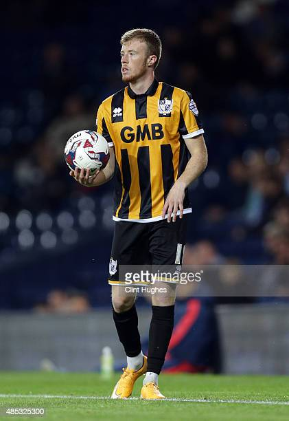 Sam Kelly of Port Vale during the Capital One Cup Second Round match between West Bromwich Albion and Port Vale at The Hawthorns on August 25 2015 in...