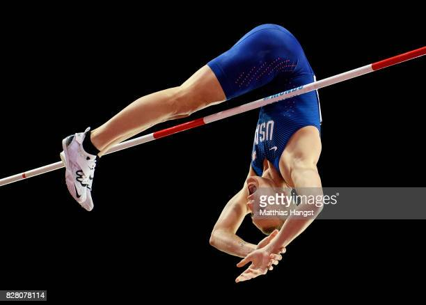 Sam Kendricks of the United States competes in the Men's Pole Vault final during day five of the 16th IAAF World Athletics Championships London 2017...