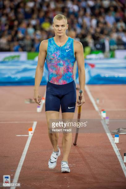 Sam Kendricks of the United States competes in the Men's Pole Vault during the Diamond League Athletics meeting 'Weltklasse' on August 24 2017 at the...