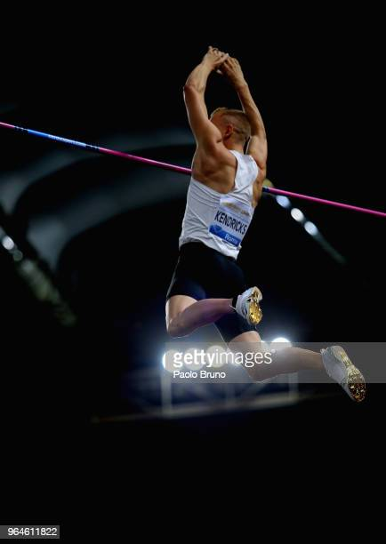 Sam Kendricks of USA competes in the men's pole vault men during the IAAF Golden Gala Pietro Mennea at Olimpico Stadium on May 31 2018 in Rome Italy