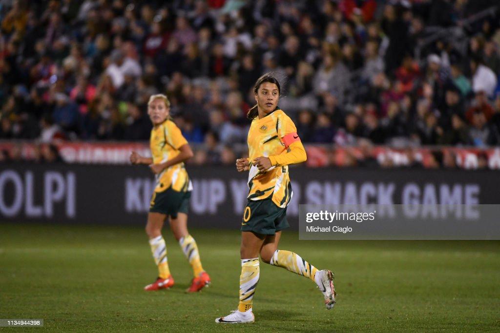 Australia v United States : News Photo