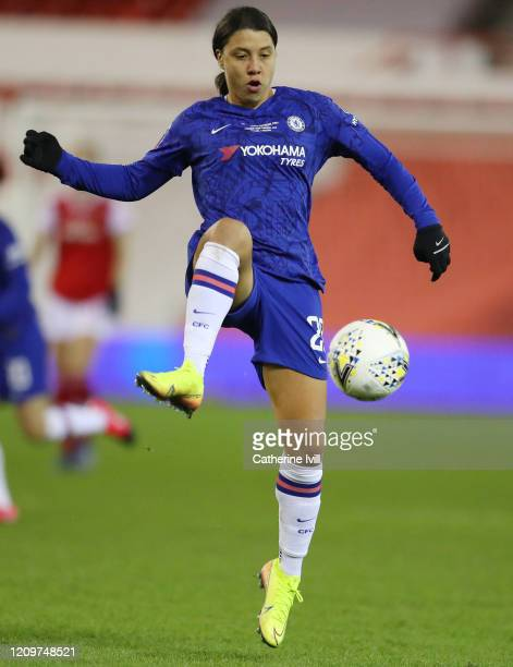 Sam Kerr of Chelsea during the FA Women's Continental League Cup Final Chelsea FC Women and Arsenal FC Women at City Ground on February 29 2020 in...