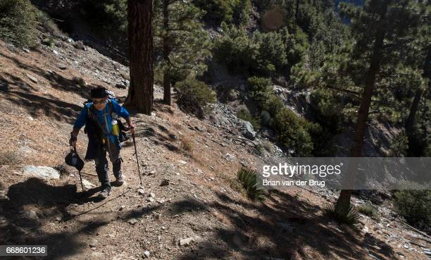 MT BALDY CALIF WEDNESDAY DECEMBER 14 2016 Sam Kim hikes a trail up to Mt Baldy a trek he has made more than 700 times in Mt Baldy Calif on Dec 14 2016
