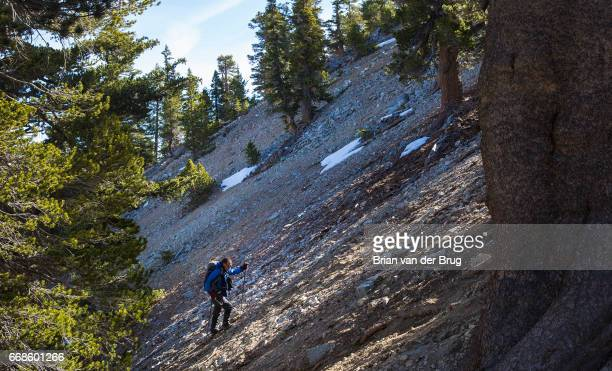 MT BALDY CALIF WEDNESDAY DECEMBER 14 2016 Sam Kim hikes off trail up a steep slope on the approach to Mt Baldy a trek he has made more than 700 times...