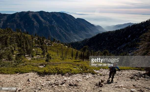 MT BALDY CALIF WEDNESDAY DECEMBER 14 2016 Sam Kim nears the summit of Mt Baldy a trek he has made more than 700 times in Mt Baldy Calif on Dec 14 2016