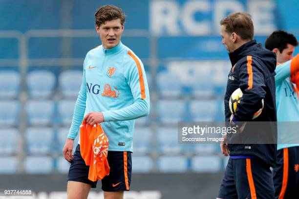 Sam Lammers of Holland U21 during the Training Holland U21 at the Ciutat Esportiva Dani Jarque on March 25 2018 in Mataro Spain