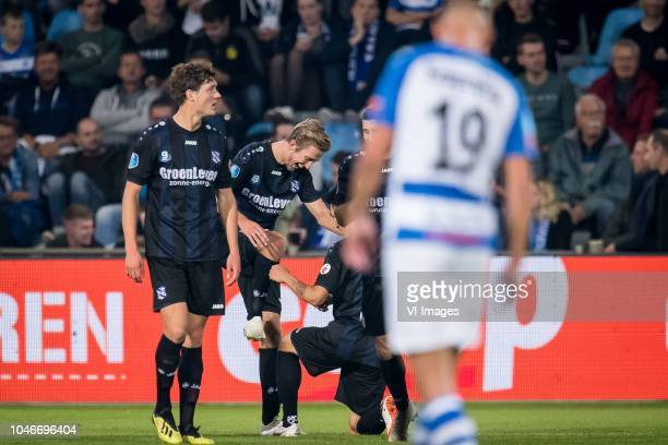 Sam Lammers of sc Heerenveen Michel Vlap of sc Heerenveen Yuki Kobayashi of sc Heerenveen during the Dutch Eredivisie match between De Graafschap...