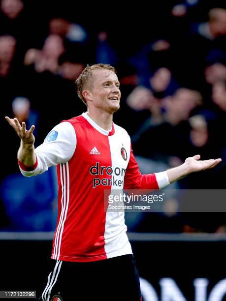 Sam Larsson of Feyenoord celebrates 5-1 during the Dutch Eredivisie match between Feyenoord v Fc Twente at the Stadium Feijenoord on September 29,...
