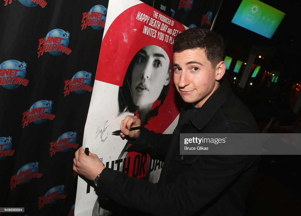 Sam Lerner poses as he promotes his new film