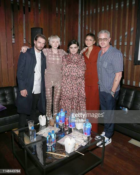 Sam Levinson Hunter Schafer Barbie Ferreira Zendaya and Eric Dane attend the premiere afterparty of HBO's Euphoria during the ATX Television Festival...