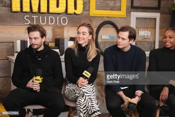 Sam Levinson Suki Waterhouse Bill Skarsgard and Abra of 'Assassination Nation' attend The IMDb Studio and The IMDb Show on Location at The Sundance...