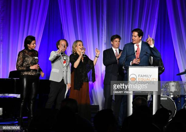 Sam Lippitt Bruce Cohen Primavera Salva Tom Swann and Nick Scandalios attend Family Equality Council's Night At The Pier at Pier 60 on May 7 2018 in...