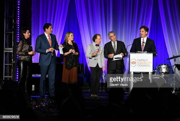 Sam Lippitt Nick Scandalios Primavera Salva Bruce Cohen Luigi Caiola and Tom Swann attend Family Equality Council's Night At The Pier at Pier 60 on...