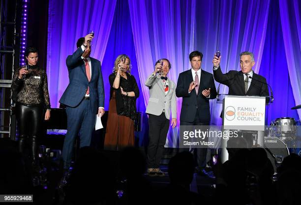 Sam Lippitt Nick Scandalios Primavera Salva Bruce Cohen Tom Swann and Luigi Caiola attend Family Equality Council's Night At The Pier at Pier 60 on...