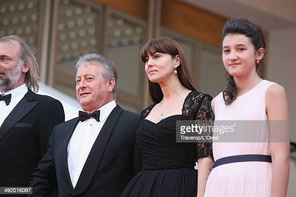 Sam Louwyck Paolo Del Brocco Monica Bellucci and Maria Alexandra Lungu attends the 'La Meraviglie' premiere during the 67th Annual Cannes Film...