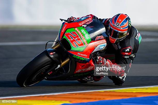 Sam Lowes from Great Britain of Aprilia Racing Team Gresini during the colective tests of Moto GP at Circuito de Valencia Ricardo Tormo on November...