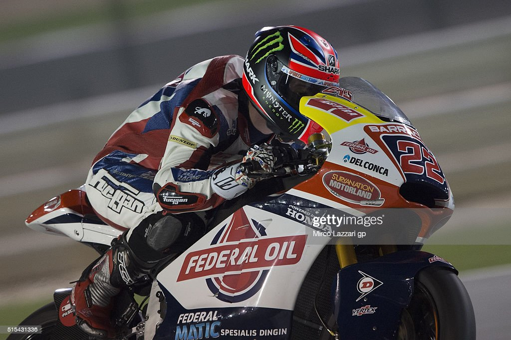 Sam Lowes of Britain and Feder Oil Gresini Moto2 heads down a straight during the Moto2 And Moto 3 Tests at Losail Circuit on March 13, 2016 in Doha, Qatar.