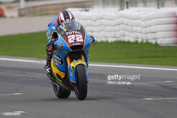 Sam Lowes of Great Britain and EG 0,0 Marc VDS heads down a straight during the free practice for the MotoGP of Comunitat Valenciana at Comunitat...