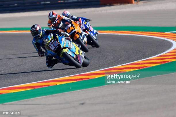 Sam Lowes of Great Britain and EG 0,0 Marc VDS leads the field during the free practice for the MotoGP of Teruel at Motorland Aragon Circuit on...