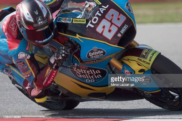Sam Lowes of Great Britain and EG 0,0 Marc VDS rounds the bend during the MotoGP Of Czech Republic - Free Practice at Brno Circuit on August 07, 2020...