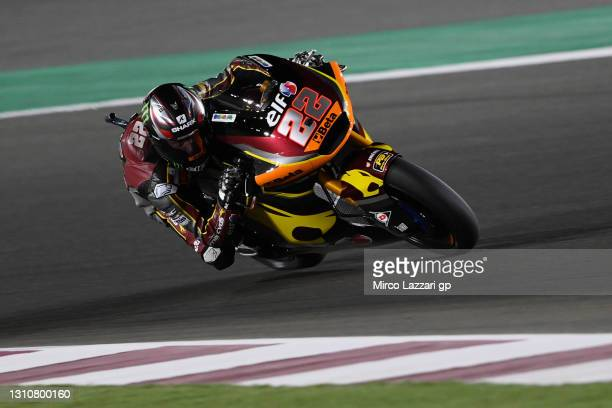 Sam Lowes of Great Britain and Elf Marc VDS Racing Team heads down a straight during the Moto2 race during the MotoGP of Qatar - Race at Losail...