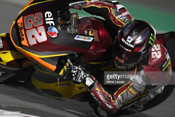 Sam Lowes of Great Britain and Elf Marc VDS Racing Team rounds the bend during the Moto2 & Moto3 Winter Tests at Losail Circuit on March 21, 2021 in...
