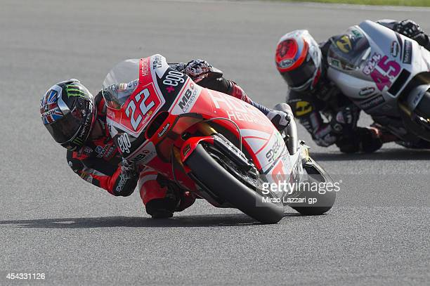 Sam Lowes of Great Britain and Speed Up rounds the bend during the MotoGp Of Great Britain - Free Practice at Silverstone Circuit on August 29, 2014...