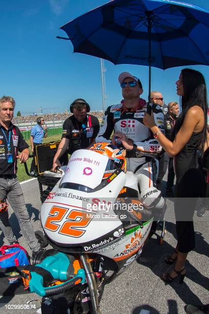Sam Lowes of Great Britain and Swiss Innovative Investors prepares to start on the grid during the Moto2 race during the MotoGP of San Marino Race at...