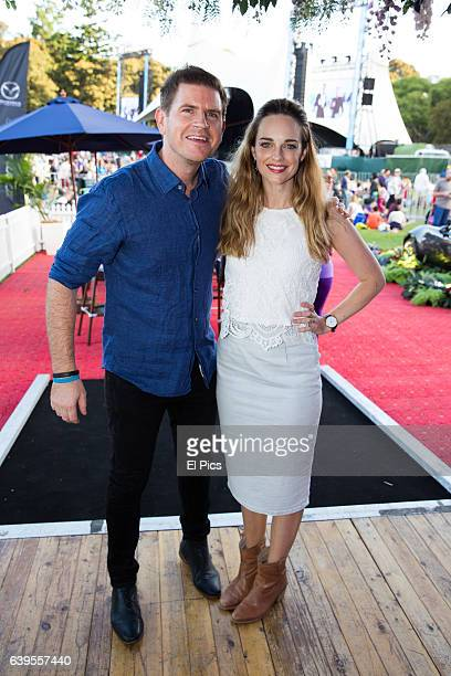 Sam Mac and Penny McNamee at Opera In The Domain at The Domain on January 21 2017 in Sydney Australia