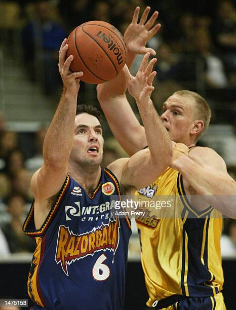 Sam Mackinnon of the Razorbacks in action during the round 2 NBL match between the West Sydney Razorbacks and the Brisbane Bullets played at the...