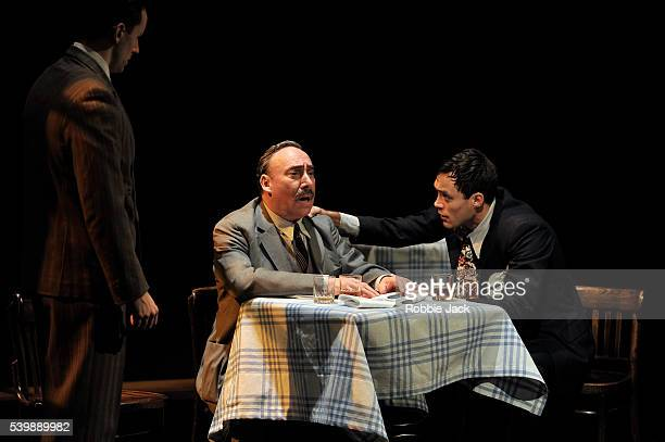 Sam Marks as Happy Antony Sher as Willy Loman and Alex Hassell as Biff in the Royal Shakespeare Company's production of Arthur Miller's Death of a...