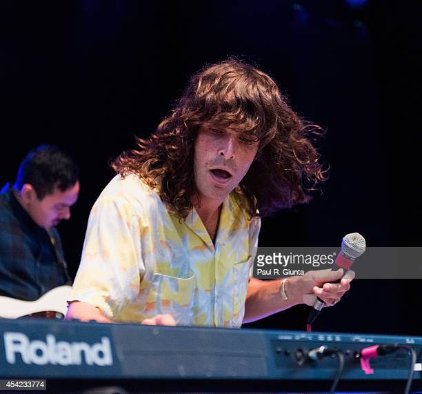 Sam Martin of Youngblood Hawke performs onstage at The Greek Theatre on August 26 2014 in Los Angeles California