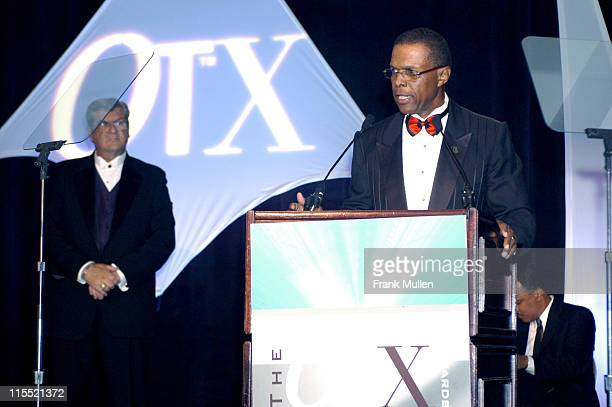 Sam McDowell and Gale Sayers during OverTime Magazine's OT X Awards at Omni Hotel in Atlanta Georgia United States