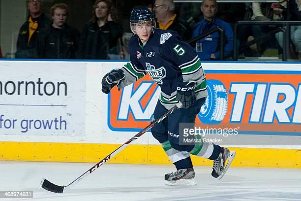 Sam McKechnie of the Seattle Thunderbirds skates against the Kelowna Rockets on February 10 2014 at Prospera Place in Kelowna British Columbia Canada
