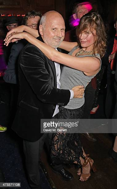 Sam McKnight and Yasmin Le Bon attend Sam McKnight's 60th Birthday Party at Tramp on May 14 2015 in London England