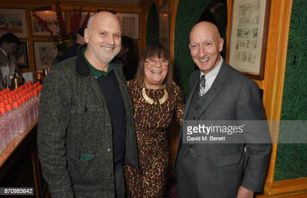 Sam McKnight Hilary Alexander and Stephen Jones attend the launch of new book Catwalking Photographs By Chris Moore hosted by the British Fashion...