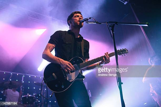 Sam McTrusty and Craig Kneale of Twin Atlantic performs on stage at HMV Ritz on April 16, 2012 in Manchester, United Kingdom.