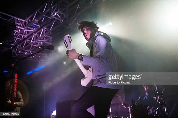 Sam McTrusty of Twin Atlantic performs on stage at The Liquid Room on August 11, 2014 in Edinburgh, United Kingdom.