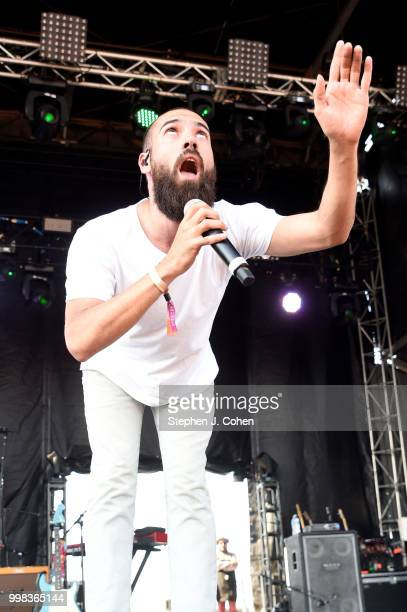 Sam Melo from Rainbow Kitten Surprise performs during the 2018 Forecastle Music Festival on July 13, 2018 in Louisville, Kentucky.