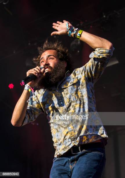 Sam Melo of Rainbow Kitten Surprise performs at the Sasquatch Music Festival at Gorge Amphitheatre on May 26 2017 in George Washington