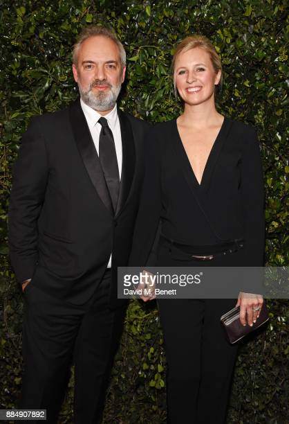 Sam Mendes and Alison Balsom attend the London Evening Standard Theatre Awards 2017 at the Theatre Royal Drury Lane on December 3 2017 in London...