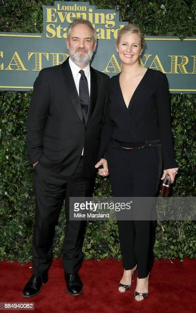 Sam Mendes and Alison Balsom attend the London Evening Standard Theatre Awards at Theatre Royal on December 3 2017 in London England