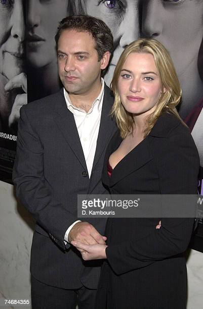 Sam Mendes and Kate Winslet at the Paris Theatre in New York City New York