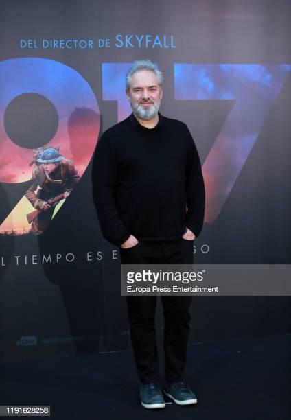 Sam Mendes attends '1917' photocall at Hotel Villa Magna on December 03, 2019 in Madrid, Spain.